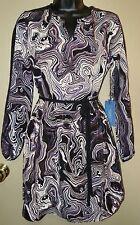 NWT - Women's Size Petite Small SIMPLY VERA Black Printed Dress
