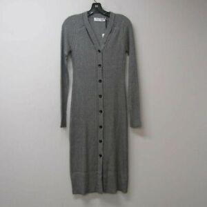 Proenza Schouler Women's US S Micro Stripe Rib Knit Dress Black