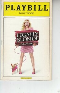 "28  performers SIGNED on 2007 'LEGALLY BLONDE"" Playbill"