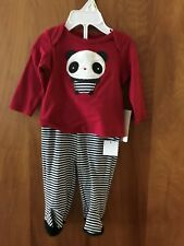 First Impressions 2 Piece Cherry Red Outfit Size 0-3 M NWT $24