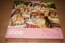"""SPRINGBOK """"THE DOLL'S TEA PARTY"""" 1000 PIECE 24"""" X 30"""" JIGSAW PUZZLE MADE IN USA"""