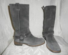 BRUNELLO CUCINELLI Gray Suede Harness Boots 35 5 $1500