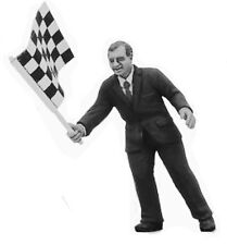 Denizen RD104 Start/Finish Flag Official - Unpainted Metal Figurine 1/43 Scale