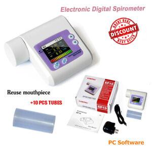 Pulmonary Function hand-held SPIROMETER FVC FEV1 FEV1% PEF FEF2575 LCD CONTEC