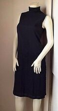 NWT$298 Calvin Klein Black Label Turtleneck Drop Waist Pleated Sheath Dress 4