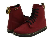 DR. MARTENS WOMEN'S SHOREDITCH  CHERRY RED CANVAS SIZE 7 US Width M