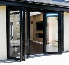 New, Aluminium Bi Fold Doors Inc Glass 5 Panels Bifold Anthracite Grey RAL 7016
