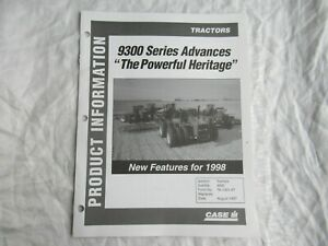 Case CASEIH 9390 9350 9300 series tractor product technical information brochure
