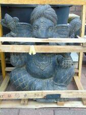 bouddha, statue d une ganesh assise en pierre patinée,