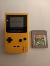 GAMEBOY COLOR YELLOW ORIGINAL CONSOLE + GAME BUNDLE TESTED AND WORKING CGB-001