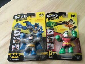 New 2021 Heroes of Goo Jit Zu Minis - DC Classic Batman & Robin Figures SERIES 2