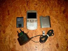 Top Zustand Nokia  C3-00 - Golden Weiß (Ohne Simlock) Handy (C3-00 GOLDEN WHITE)