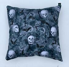 "Skull & Bat Gothic Scroll Cushion Cover Sofa Decorative Case to fit 18"" x 18"""