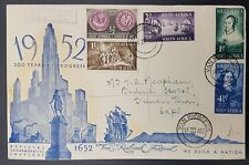 South Africa 1952 Van Riebeeck Set to 1/- on Illustrated Registered Cover