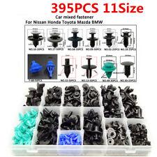 395pcs Mixed Car Fastener Plastic Clips 6-10mm for Honda Toyota BMW Nissan Mazda