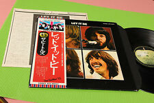BEATELS LP LET IT BE JAPAN EX FOC INSERT OBI AND BLACK INNER !!!!!!!!!!!