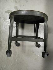 Vintage Rolling Library Industrial Stool, Uhl Steel, Toledo Metal Furniture Co.