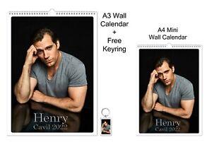 Henry Cavill 2022 A3 A4 Wall Office Calendar + Key Ring