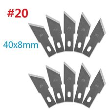 10pcs #20 Replacement Hobby Classic Fine Point Blades high steel Craft Knife