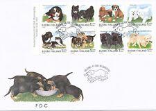 Finland 1998 Fdc Sheet Dogs: Puppies St. Bernard Boxer Lapphund Pumi Retriever