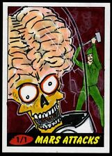 "ADAM TALLEY ""IDIOTHEAD"" 2012 Topps Mars Attack Heritage Sketch Card 1/1"