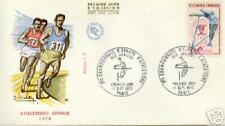 Enveloppe championnats d'Europe athlétisme junior 1970 affranchissement 1er jour