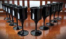 "Rare Woodmere Studio Crystal Black Blown  Sherry Glass  5 7/8"" - (10 Glasses)"