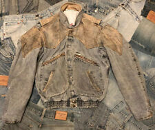80s Vintage Guess Leather/Denim Jacket - Small