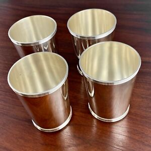 (4) AMSTON STERLING SILVER TRADITIONAL MINT JULEP CUP / BEAKER - NO MONOGRAM