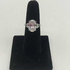 925 Oval Crystal Ring Size 7