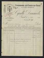 "GAND (BELGIQUE) CHARBONS & COKES ""Cyrille DANNEELS"" 1899"