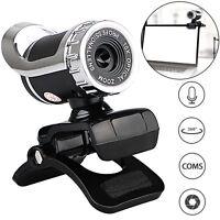 360° USB 2.0 1080P HD WebCam Web Camera Clip-on MIC for Desktop PC Laptops US