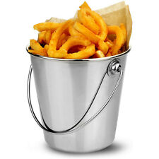 More details for chips bucket stainless steel mini serving bucket silver food presentation home