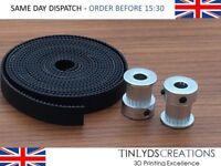 GT2 10mm Timing Belt and Pulleys 20 Teeth 6.35mm Bore  Reprap 3d printer part
