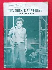 """Danish movie program.""""The Last Mile"""" About death row in Sing Sing.1935."""