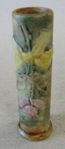 """Vintage """"WELLER POTTERY"""" Woodcraft / Flemish Rose Bud Vase – Yellow Bow"""