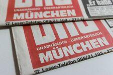 BILDzeitung 25.10.2001 Oktober  München Bayern 20. 21. Geburtstag Geschenk MB