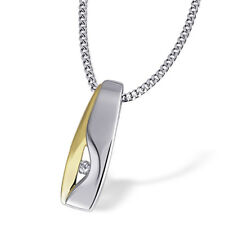 Goldmaid Damen-collier 925 Sterlingsilber gelb vergoldet 1 brillant