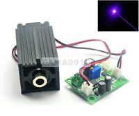 Focusable Dot 405nm 50mW Laser Diode Module TTL +Long-time Working 12V