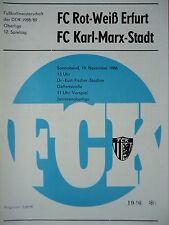 Programm 1988/89 FC Karl Marx Stadt - RW Erfurt