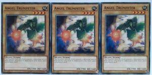 X3 YUGIOH ANGEL TRUMPETER SHVI-EN001 COMMON CARDS
