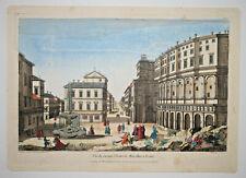 FAMEUX THEATRE MARCELLUS ROME Gravure VUE OPTIQUE Italie Chereau Wichnyther 1761