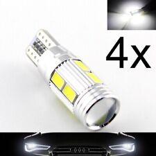 4 Lampade xenon LED T10 HID 6 SMD 5630 Canbus NO ERRORE BIANCO Posizione W5W