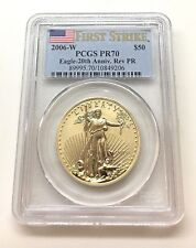 2006-W $50 GOLD EAGLE-20th ANNIV. REVERSE PROOF PR70 PCGS - FIRST STRIKE (-9206)
