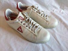 Le Coq Sportif Castelet 1980 Mens White Trainer Shoe Leather UK Size 8.5
