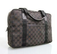 NEW Authentic GUCCI GG Canvas Tote Shoulder Laptop Bag Handbag 282529