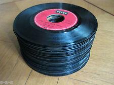50 Deko Singles Vinyl Schallplatten - Basteln - Party Keller Tisch Dekoration