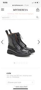 Church's Ladies Alexandra Boots In Black 38.5 Current Season RRP £570