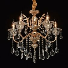 MW-Light Classic 5 Light Candle-Style Chandelier, Gold/Transparent