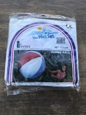 "VINTAGE New Intex INFLATABLE JUMBO 48"" BEACH BALL The Wet Set"